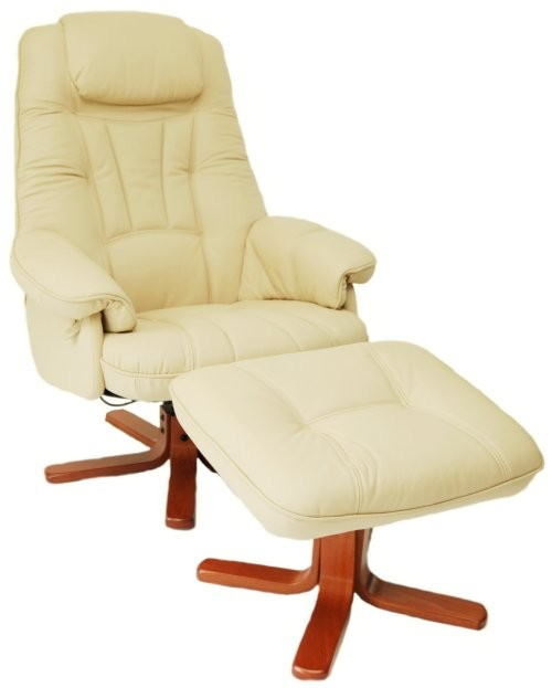 Daneway Easychair Bison Full Leather Swivel Shair And Stool
