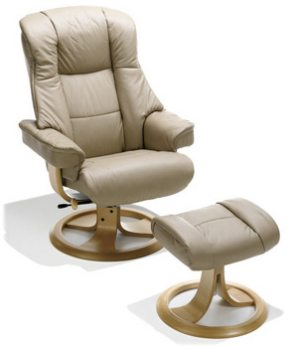 Kebe Fox Recliner Swivel Chair With Stool.