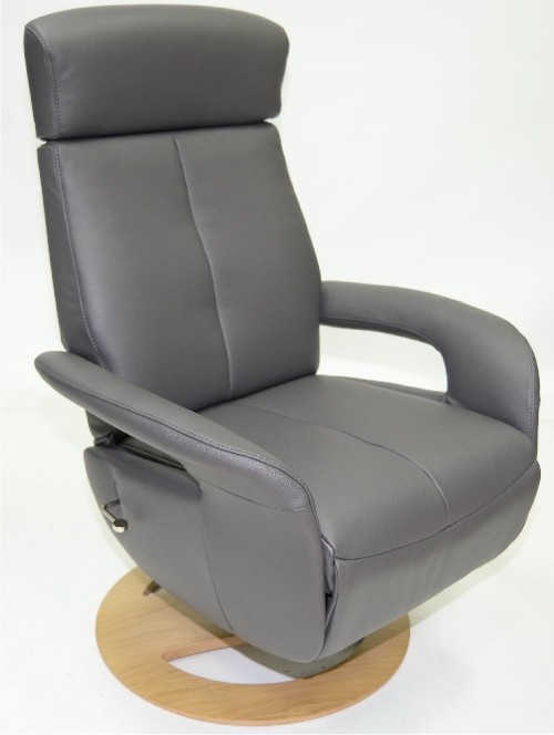 sitbest slimline urban grey leather
