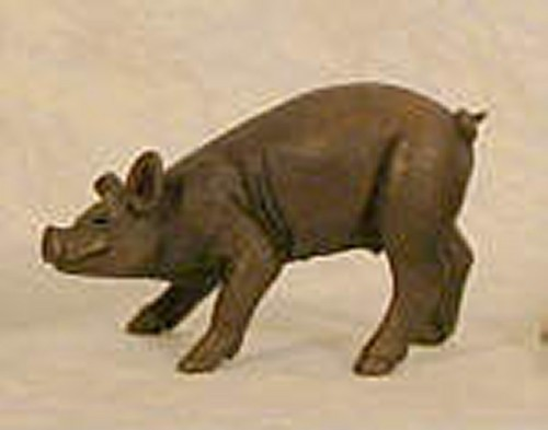 Suzie Marsh standing piglet bronze Resin