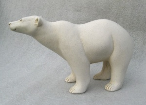 suzie_marsh_portland_stone_resin_mother_polar_bear_L